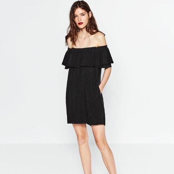 Zara Dresses | Off Shoulder Dress | Poshmark